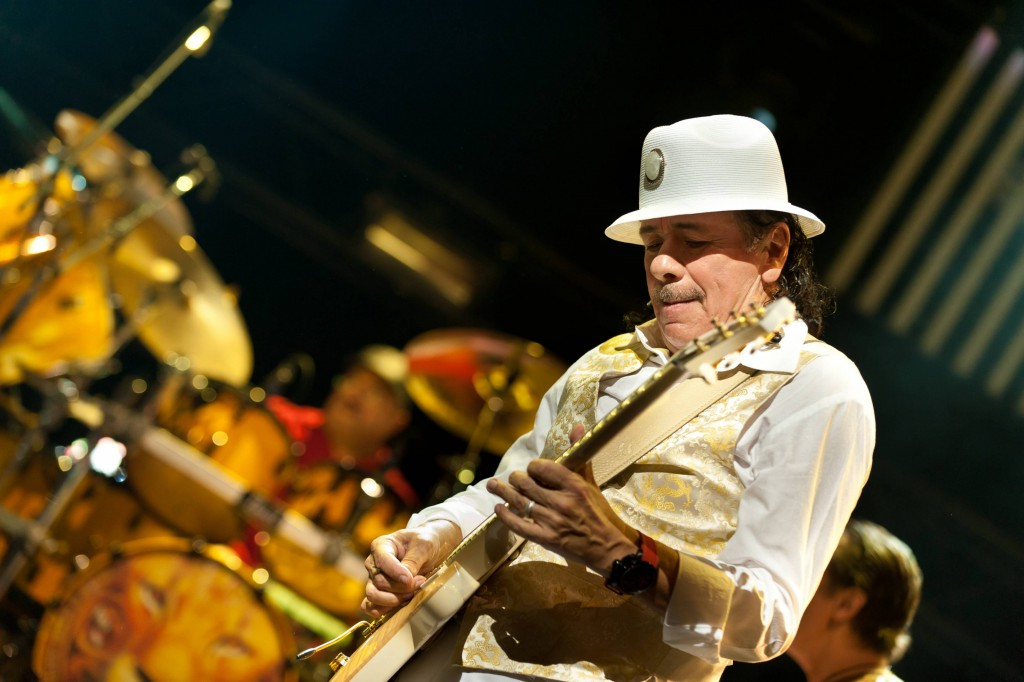 Carlos Santana performs at the Montreux Jazz Festival in Montreux