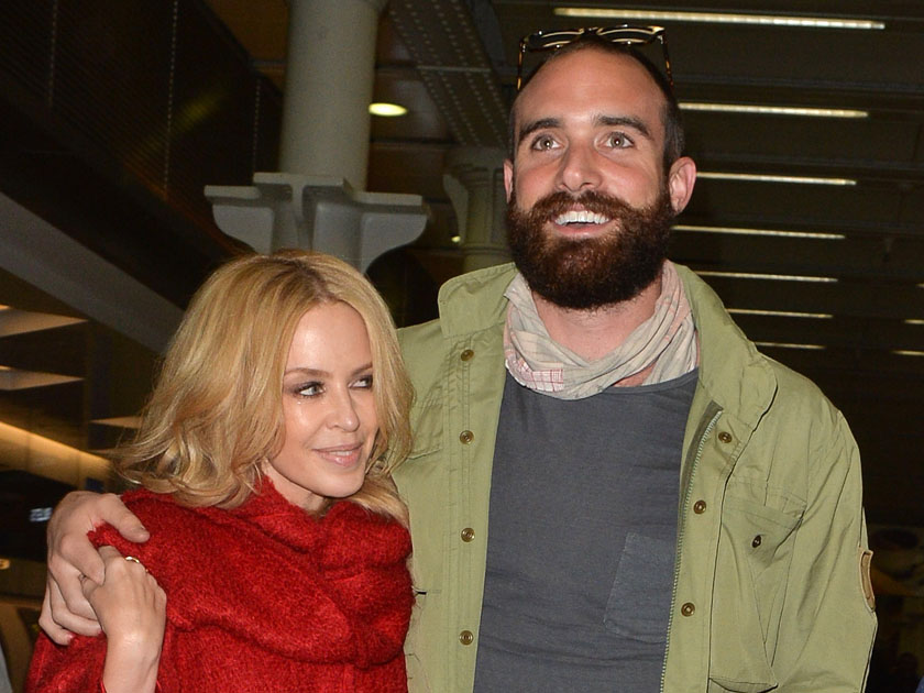 Mandatory Credit: Photo by Palace Lee/REX/Shutterstock (5470679d) Kylie Minogue and Joshua Sasse at Kings Cross St Pancras Kylie Minogue and Joshua Sasse out and about, London, Britain - 03 Dec 2015