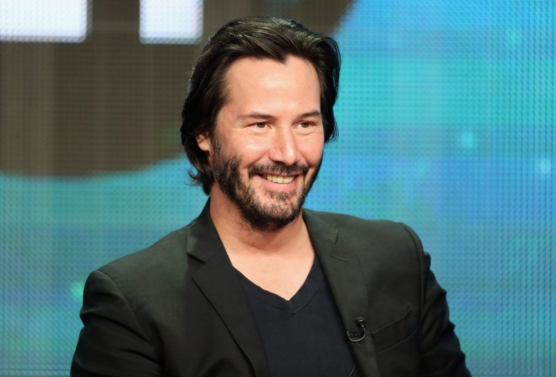 "BEVERLY HILLS, CA - AUGUST 06: Host/producer Keanu Reeves speaks onstage during the ""Side by Side"" panel at the PBS portion of the 2013 Summer Television Critics Association tour at the Beverly Hilton Hotel on August 6, 2013 in Beverly Hills, California. (Photo by Frederick M. Brown/Getty Images)"