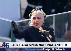 Lady Gaga a interpretat imnul SUA la ceremonia de învestire a președintelui Joe Biden – VIDEO